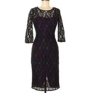 French Connection London Lace Sheath Dress